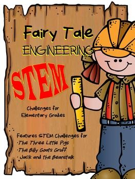 "Your students will love practicing engineering skills to help their favorite fairy tale characters from: •The Three Little Pigs •The Three Billy Goats Gruff •Jack and the Beanstalk In addition to the ""What is an Engineer?"" Poster, you will find: a complete lesson plan, student planning page, research ideas (QR Codes/Library Book Recommendations), and pictures of the products in action for each fairy tale story."