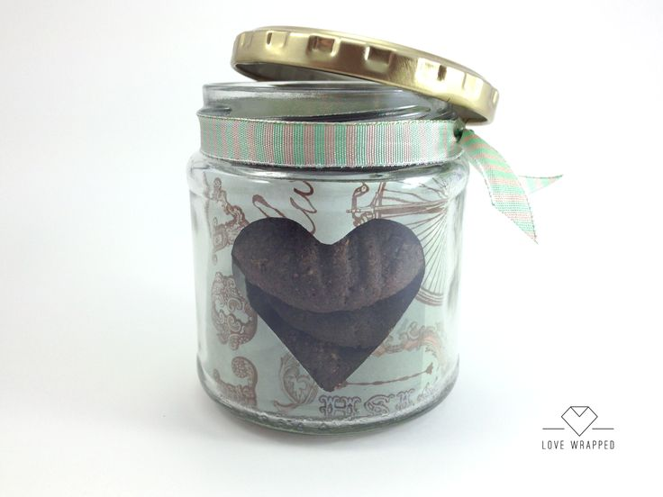 Home made chocolate cookies in a jar