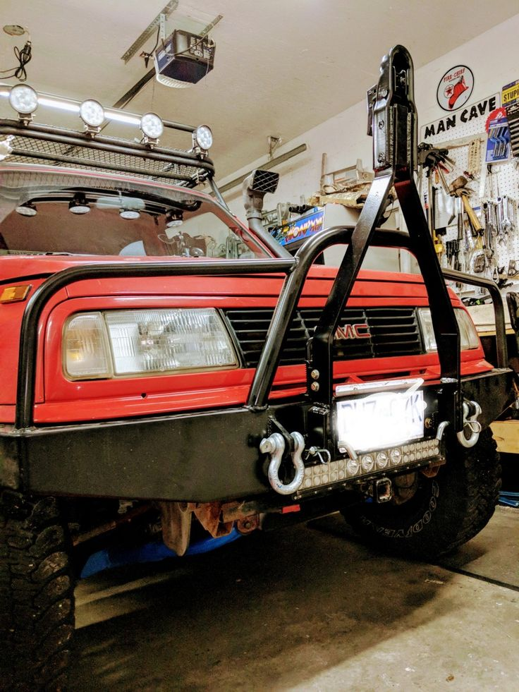 Front Bumper With Tow Bar Monster Trucks Offroad Roll Cage