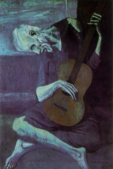 PICASSO, Pablo  The Old Guitarist  1903