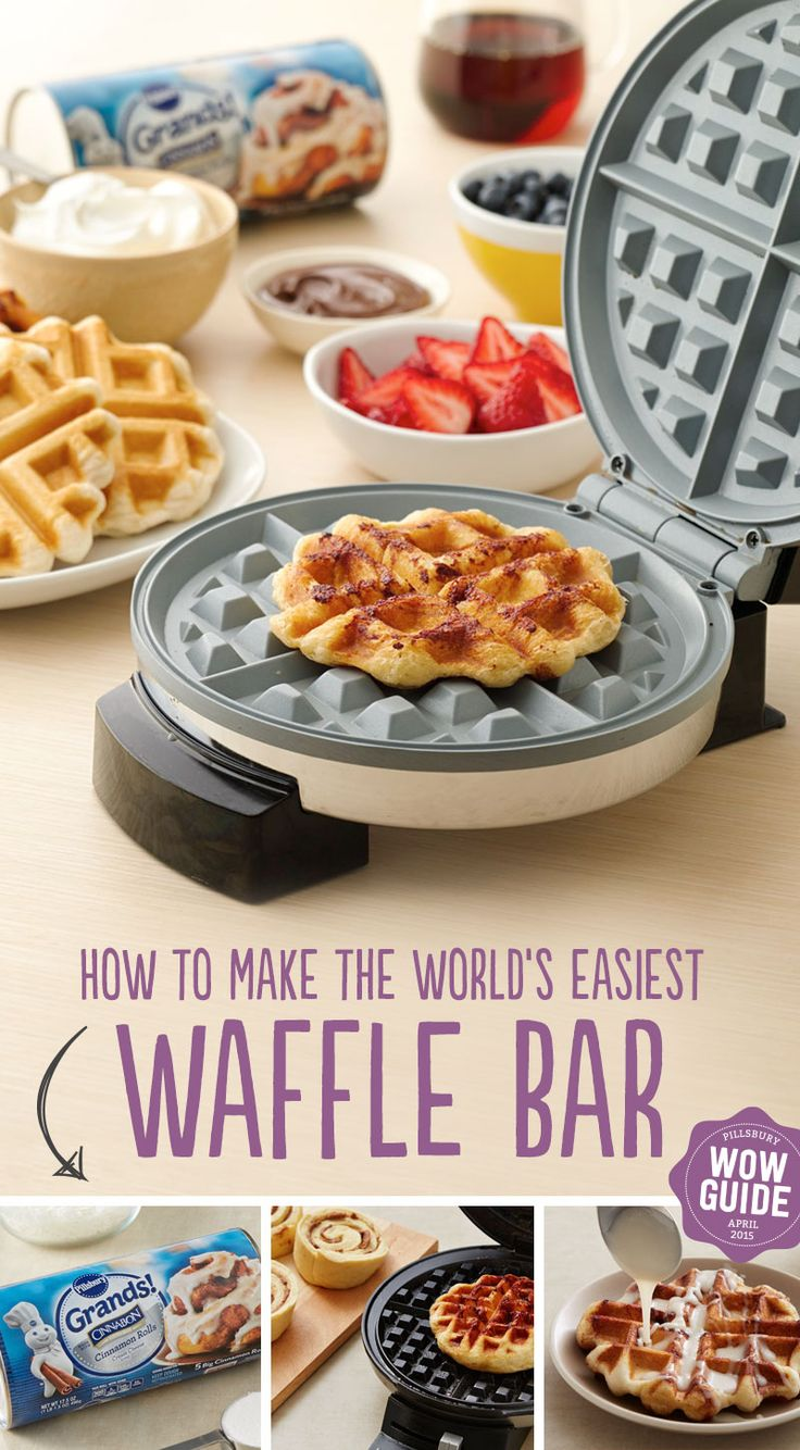 Learn how to make the world's easiest waffle bar! Great for special occasions like birthdays, graduations, and weddings.