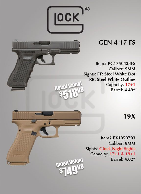 Glock 19X Pistol Giveaway by Gallery of Guns | Gun Related Giveaways