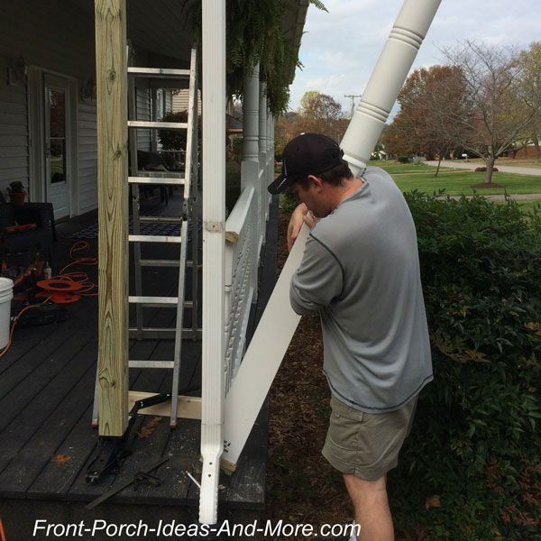 removing old front porch column