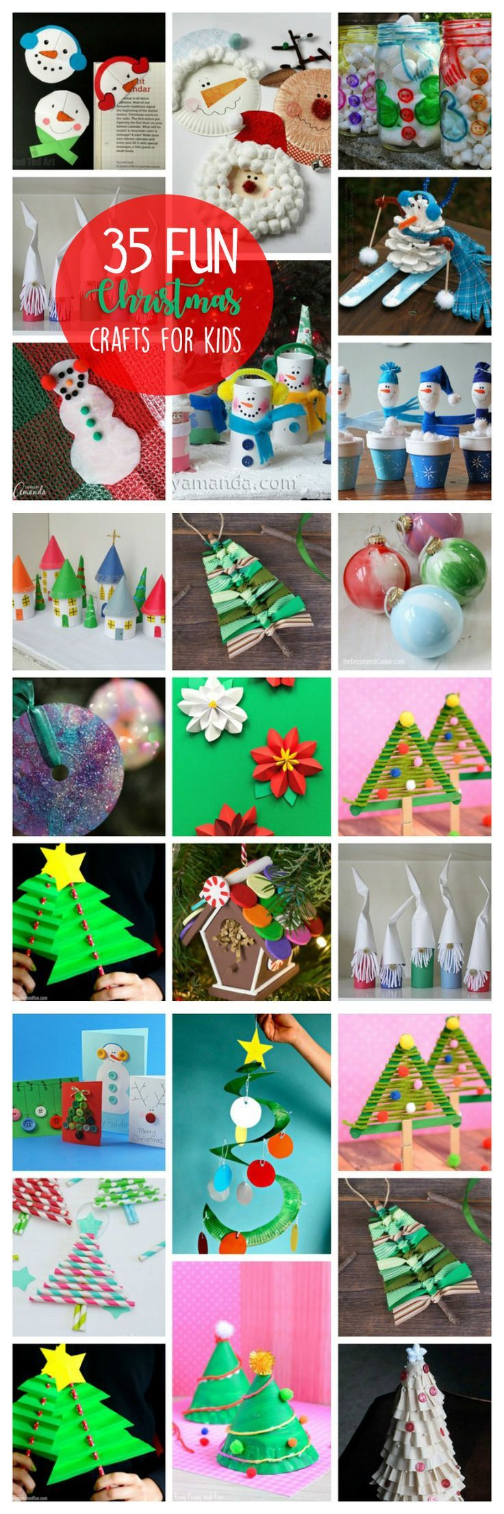 This collection of Christmas crafts for kids has something for everyone! Grab several of these fun and easy Christmas projects the kids will love! #christmascrafts #christmas #kidscrafts #holidaycrafts