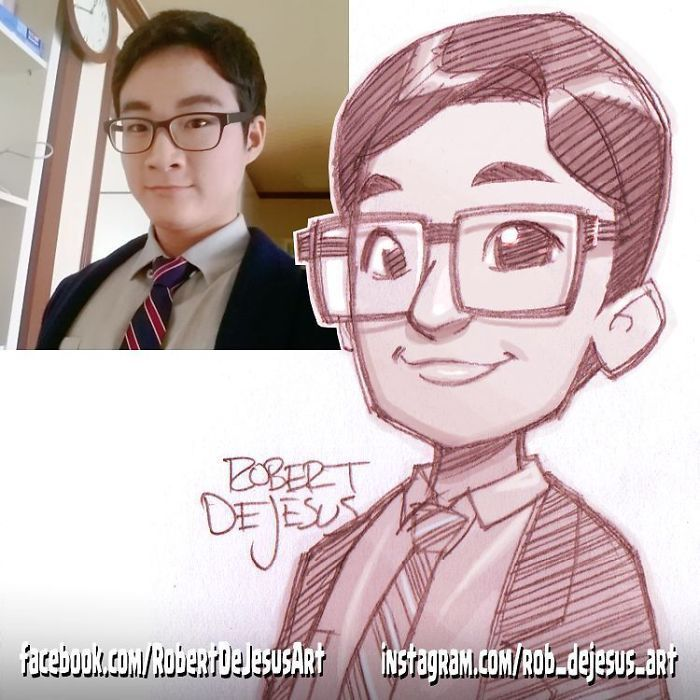 Illustrator Turns People And Their Pets Into Cartoon Characters New Pics Drawing Cartoon Faces Portrait Cartoon Cartoon Pencil Sketches