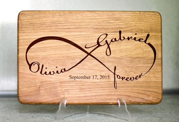 Our personalized cutting boards are custom engraved keepsakes. They make a unique and touching gift for any couple, family, or special memory.
