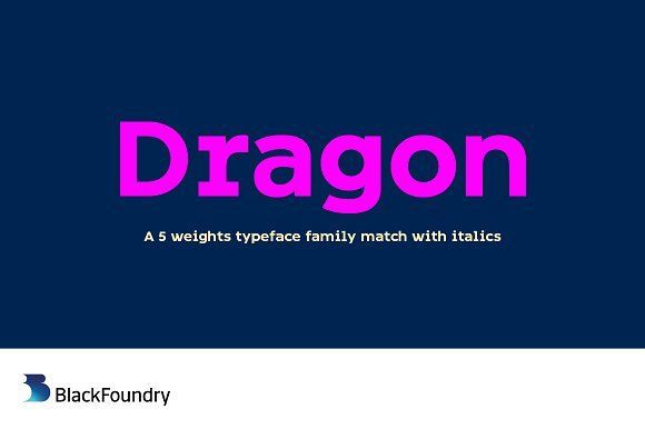 Best Dragon Bold CreativeWork247 - Fonts, Graphics, Themes, Templates...