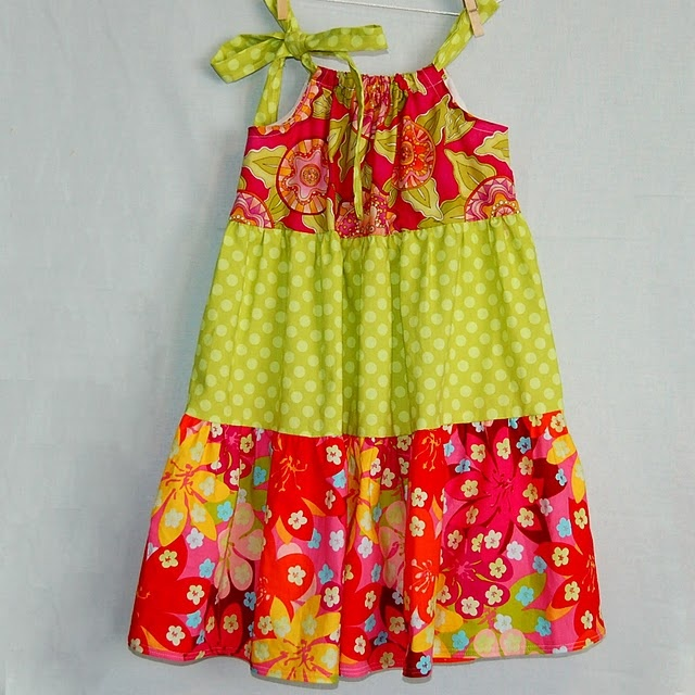 new spin on pillowcase dress...this way takes a bit more time