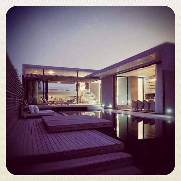"@mauroparolo's photo: ""#contemporist #house #architect #archilovers #architecture #architexture #design #interior #interiordesign #sick #structure #building #buildinglovers#asymptote #ig #iphone #iphonesia #phototag"": Beach House, Pool, Dream House, Voelklip House, South Africa, Architecture, Saota, Design"