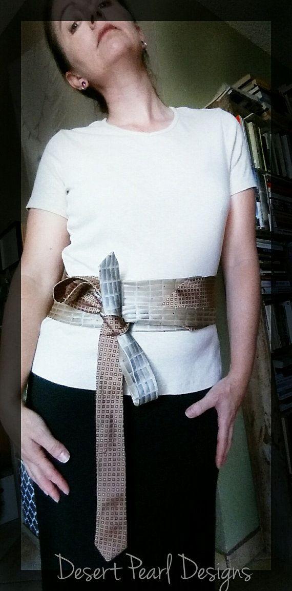 Unique fabric belt silk tie belt obi belt adjustable belt