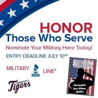 Nominate your Military Hero today! Deadline is July 10th!