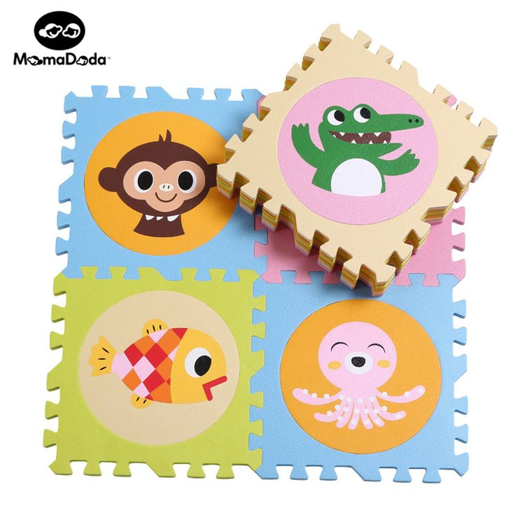 20pcs Soft EVA Foam Play Mat For Newborn Baby Gym Mat Puzzle Game Carpet With Animals & Numbers Baby Crawling Thickness 1.4cm