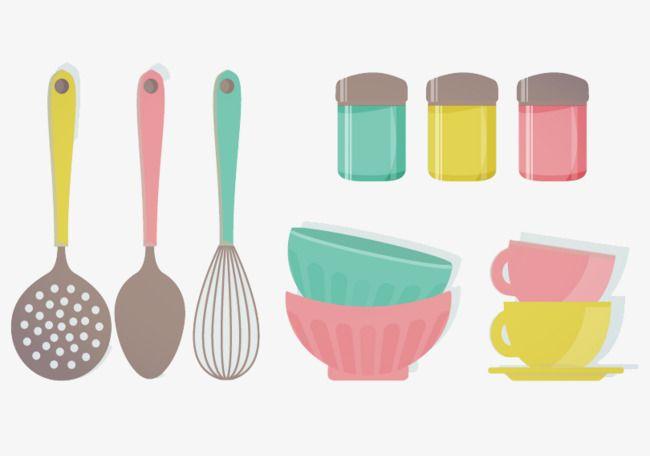 Kitchen Utensils Bowl And Spoon Kitchen Kitchenware Pots And