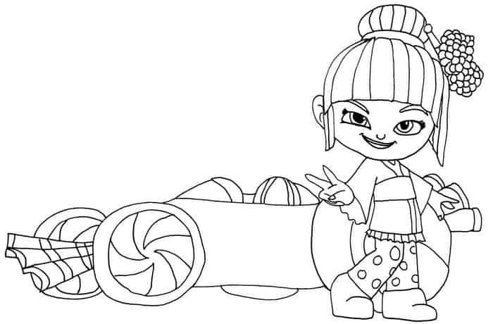 Coloring Pages Of How To Draw So Cute Racers From Wreck It Ralph Disney Princess Coloring Pages Coloring Pages Disney Coloring Pages