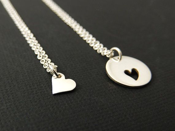 The 25 best mother daughter jewelry ideas on pinterest mother items similar to mother daughter jewelry sterling silver heart necklace two mother daughter necklace aloadofball Image collections