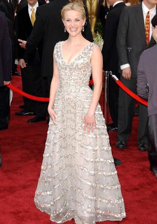 Christian Dior Dresses 1950s | Reese Witherspoon in a vintage 1950s Christian Dior gown ~ Oscars 2006