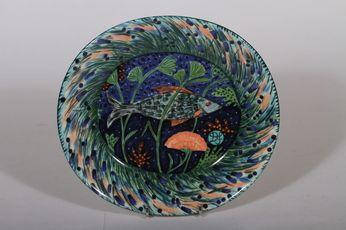 Laatutavara Plate with fish by Dorrit von Fieandt
