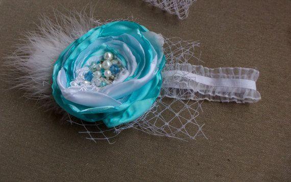 Девочка-обогатительного Девочка туалетным держатель младенца бирюзовые волосы луки бирюзовый кружева цветок туалетный Новорожденный Оголовье