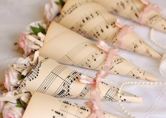 可愛い♡音楽好きのふたりに、楽譜柄のweddingアイデアをあつめました♡のトップ画像