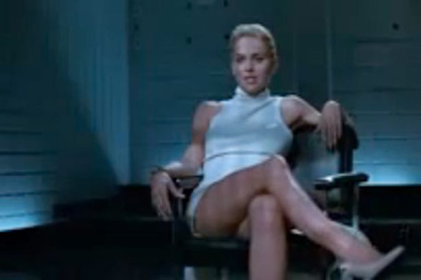 Sharon Stone... from Basic Instinct....