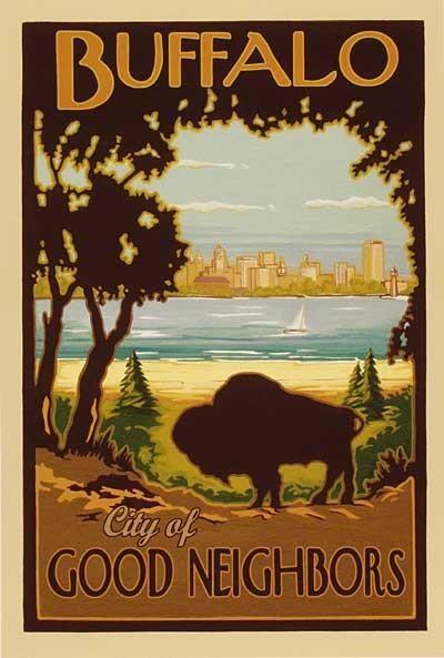 Image of Buffalo - City of Good Neighbors Poster (11x16)