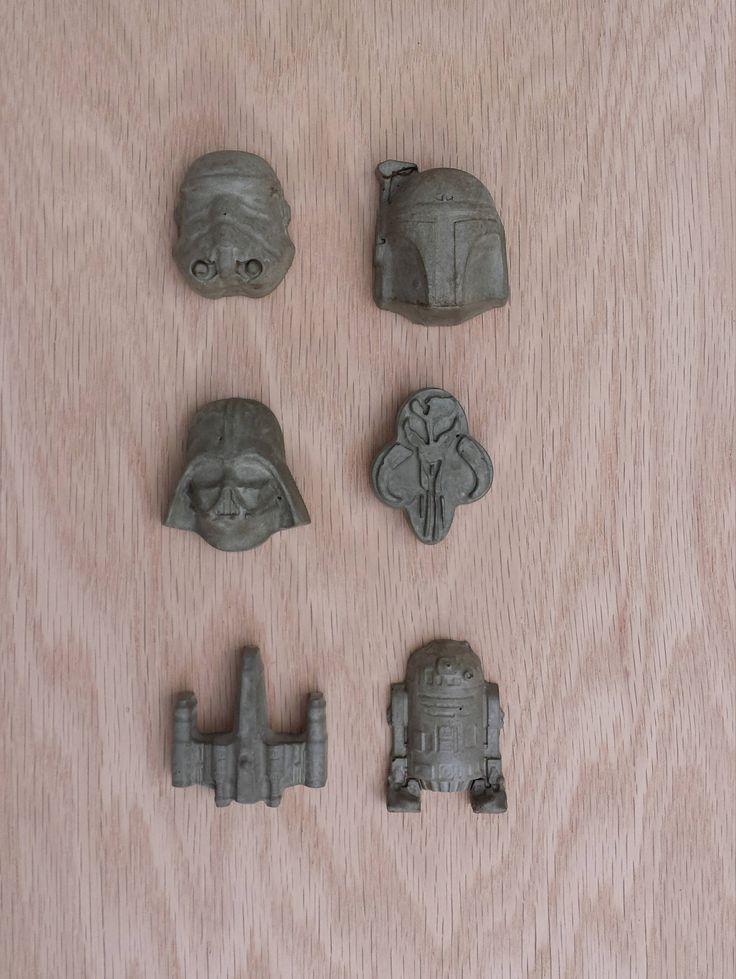 Star Wars Magnets, Star Wars Office, Star Wars Gift for Him, Darth Vader Magnet, Concrete Fridge Magnet,  Geek Office, Refrigerator Magnets by ActivRockStudio on Etsy