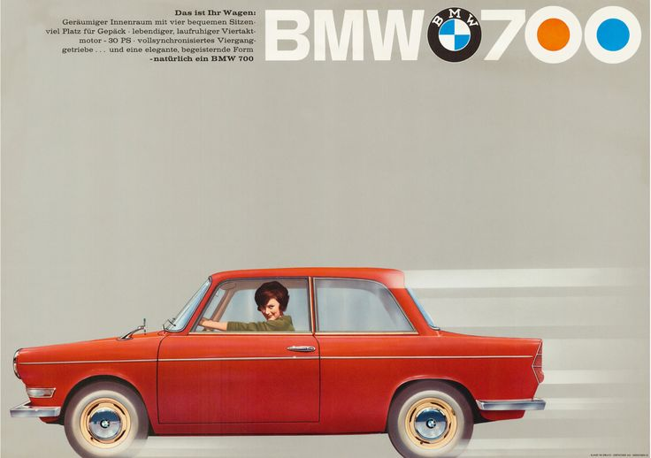 BMW 700Vintage Bmw, Bmw 700, Classic Cars, Cars Posters, Bmw700, Bmw Ads, Vintage Ads, 700 Ads, Advertising Poster