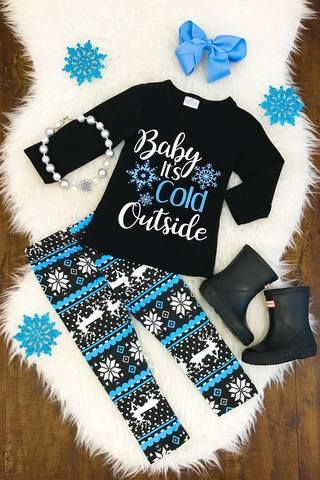 """""""Baby It's Cold Outside"""" Pant Set- RESTOCKED!"""