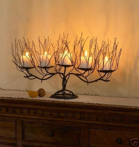 Sell one like this rustic branch candelabra candle holder