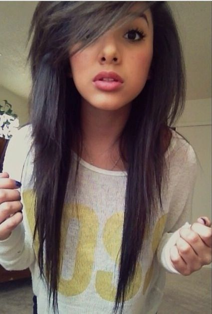 Marvelous 1000 Ideas About Side Bangs Long Hair On Pinterest Long Side Short Hairstyles Gunalazisus