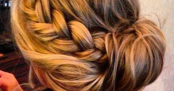 Braids, Side buns and Hair on Pinterest