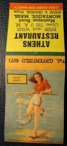 Vintage-Matchbook-Athens-Restaurant-Montague-MA-pinup