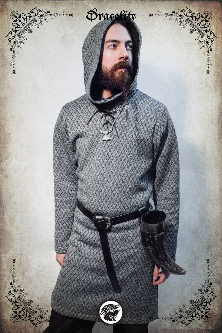 Viking Christian tunic medieval clothing for men LARP costume and cosplay by Dracolite on Etsy