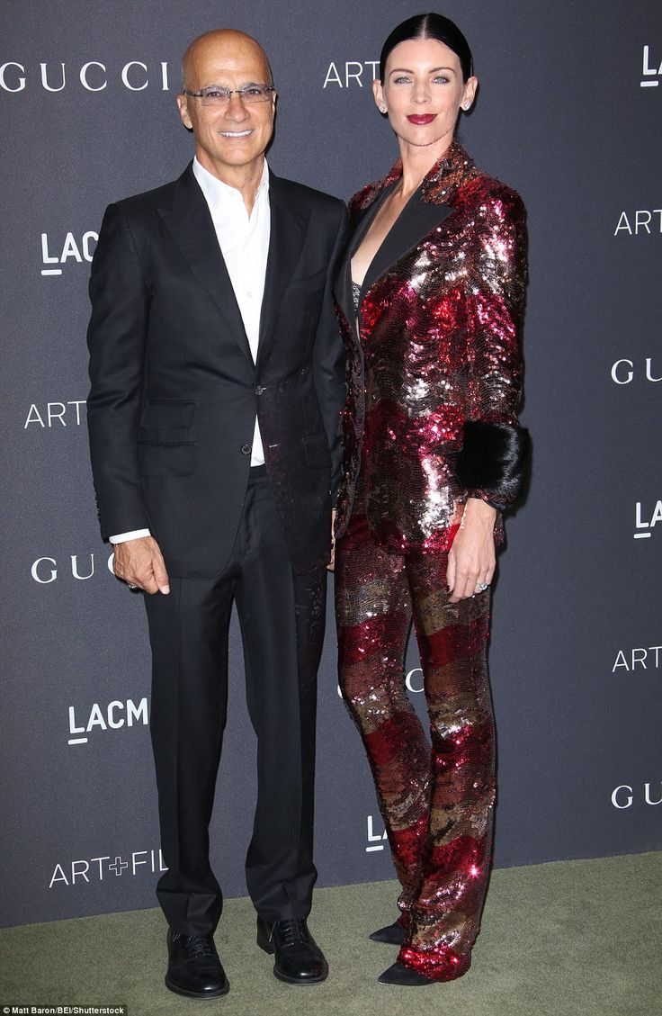 The newlywed show: Music man Jimmy Iovine and Liberty Ross looked pleased as punch...