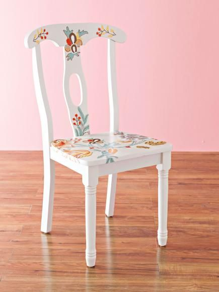 Decoupaged chair; 24 Easy DIY Furniture Makeovers | Midwest Living