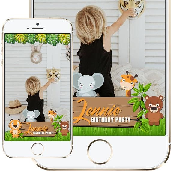 Jungle Safari Birthday Snapchat Filter / Jungle Safari Baby
