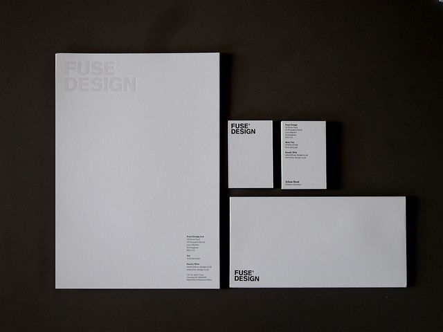 Our new stationery all printed on GF Smith Colorplan Cool Grey. The letterhead printed one colour with clear foil and the 540gsm business cards and the envelopes foil blocked in satin black. By Fuse Design, Graphic designers in Nottingham.