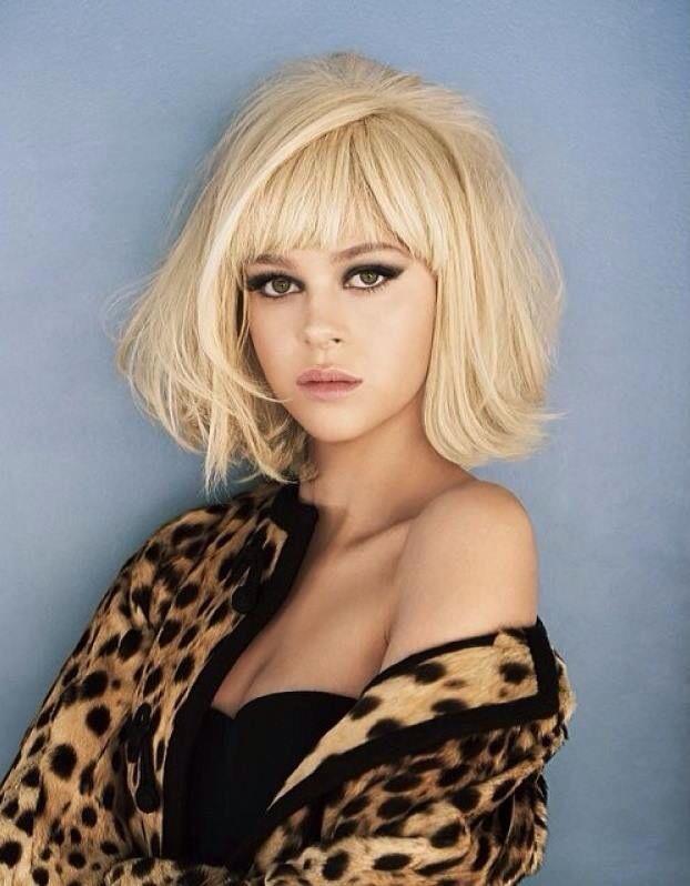Nicola Peltz – blonde Bob and bangs