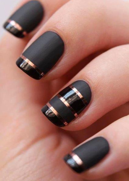Uñas negras fashion !!!