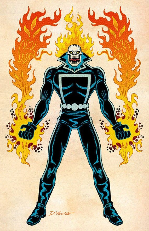 Ghost Rider Johnny Blaze Signed 11 X 17 Color Print By Etsy Ghost Rider Johnny Blaze Ghost Rider Ghost Rider Marvel