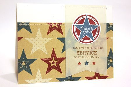 Thank You For Your Service Card by Heather Nichols for Papertrey Ink (June 2012)Cards Misc, Service Cards, Cards Patriots, Papertrey Ink, June 2012, Wine Bottle Tags, Patriots Cards, Heather Nichols, Ink June