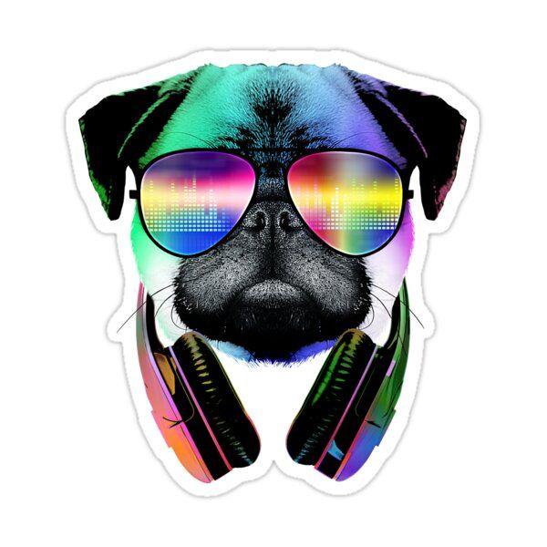 Dj Pug Dog With Headphones Sunglasses Pug Dog Pugs Dog Patch