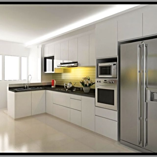 L shape kitchen