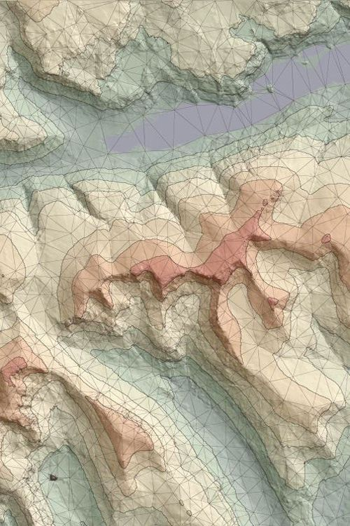 colored relief map