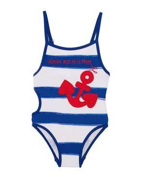 Ahoi, Matrosin! Badeanzug mit maritimem Muster von Agatha Ruiz.