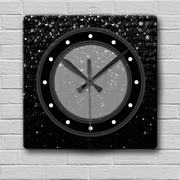 SOLD Wall Clock Crystal Bling Strass https://www.zazzle.com/wall_clock_crystal_bling_strass-256918702871389427 #Zazzle #Wall #Clock #Crystal #Bling #Strass #black