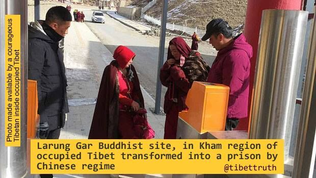 China's terrorist regime which wages a war of cultural genocide against Tibet's national & cultural identity is criminalizing #Buddhism in #trueTibet