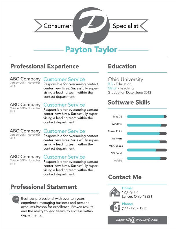 8 best Resume Templates images on Pinterest Teacher resumes, Cv - how to build a resume on microsoft word