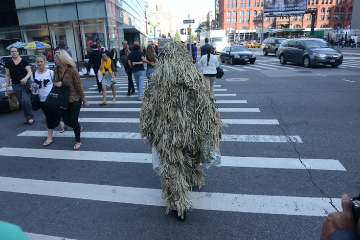 Your Ghillie costume can double as a mop for hurricane clean up.