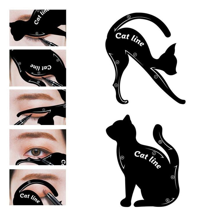 All-In-One Cat Eyeliner Stencils Models Template Draw Eyeliner Eye Makeup Tool